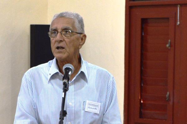 El Reverendo Raimundo García durante la apertura del primer evento del proyecto Cuba Posible