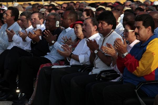 Presidentes latinoamericanos reunidos en La Habana.