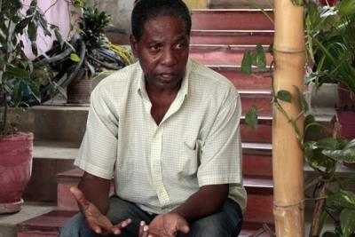 Calderín apoya iniciativas como la finca agroecológica Rincón del Cristo, en el poblado habanero de Casa Blanca.