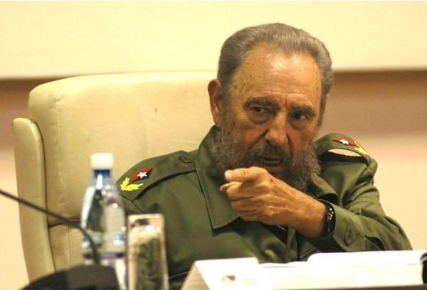 Fidel Castro durante con acto en el Palacio de las Convenciones de Cuba.