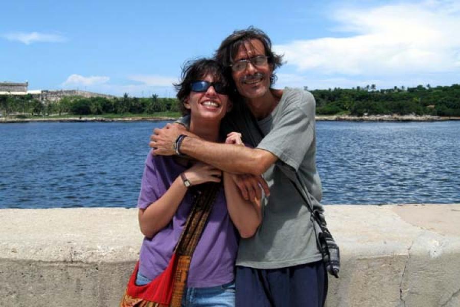 Jorge García y yo, el 27 de agosto de 2008 cuando le mostré la explanada de La Punta, mientras buscaba la locación para un concierto callejero.