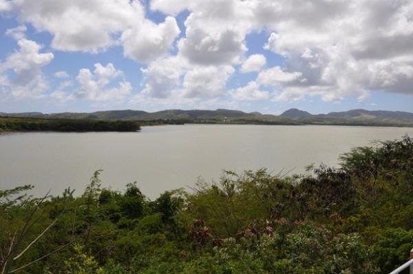 Zona de captación de agua en Antigua, donde es un recurso escaso.