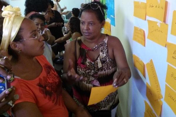 Las y los participantes del taller construyeron saberes y compartieron experiencias sobre el trabajo comunitario.