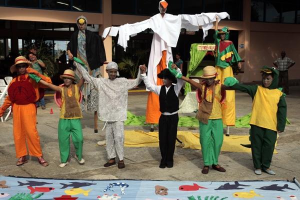El grupo infantil El Bosque interpreta un canto a favor de la Ciénaga de Zapata, que Cuba aspira a que sea declarado Patrimonio natural de la Humanidad.