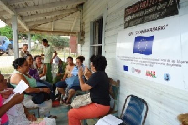 Un encuentro del proyecto realizado en la cooperativa 25 aniversario, en Florida, Camagüey.