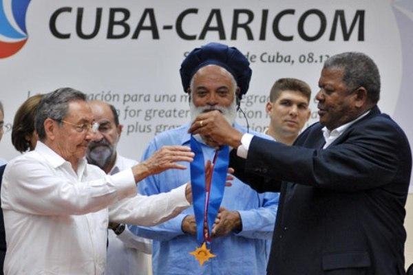 Presidente Raúl Castro en una de las cumbres Cuba- Caricom