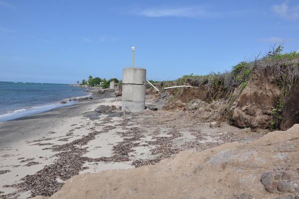 La isla de Nieves está sufriendo la erosión de sus costas.